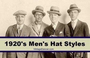 1920's Mens Hats: Great Gatsby Era Hat Styles