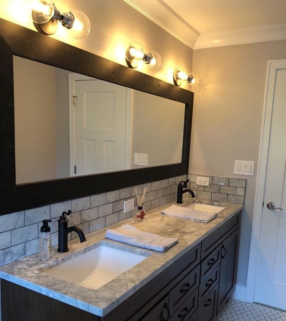 Custom Size Mirrors Mirror Bathroom Mirror Vanity Mirror Wall Mirrors Wood Framed Mirror Large Bathroom Mirrors Wood Framed Mirror Small Bathroom Remodel