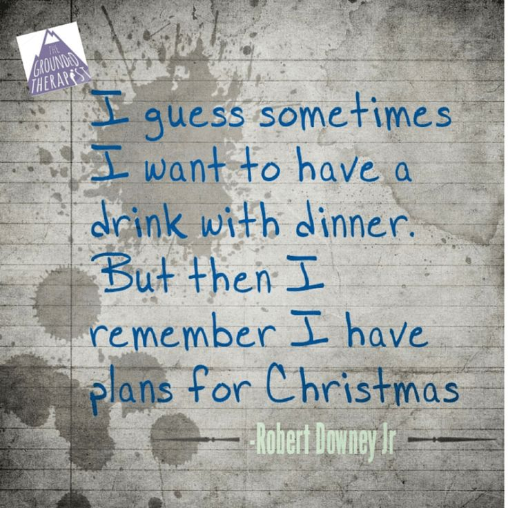 plans for christmas. clean and sober! second chances