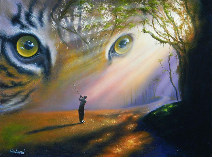 Tiger in the Woods   Artist Jim Warren   Art, Fantasy art ...