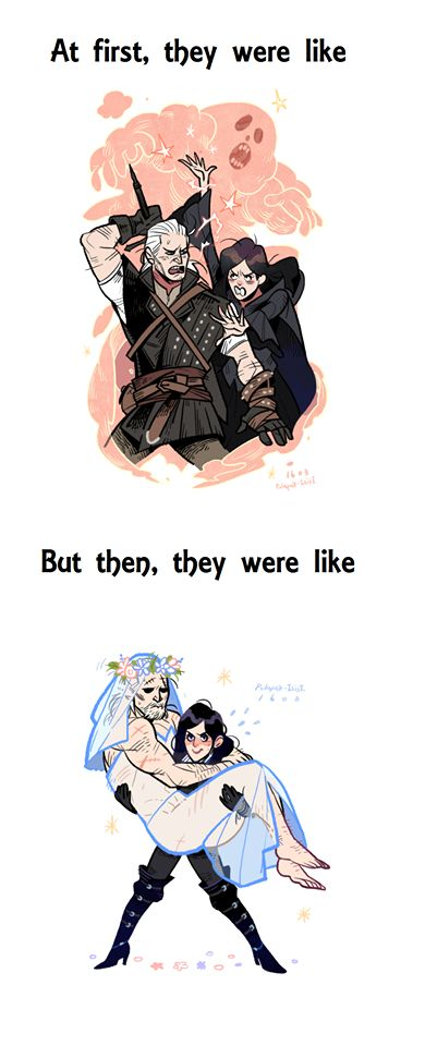 Yennefer and Geralt in a nutshell.