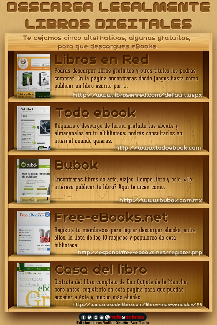 Descarga legalmente libros digitales