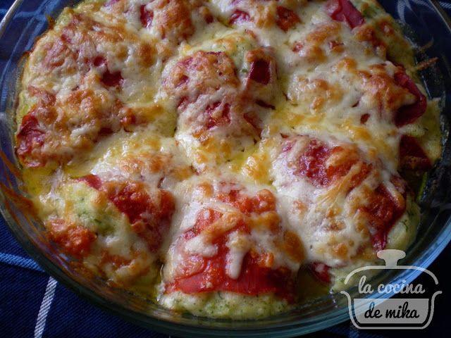 La cocina de Mika: PIMIENTOS DE PIQUILLO RELLENOS DE MERLUZA