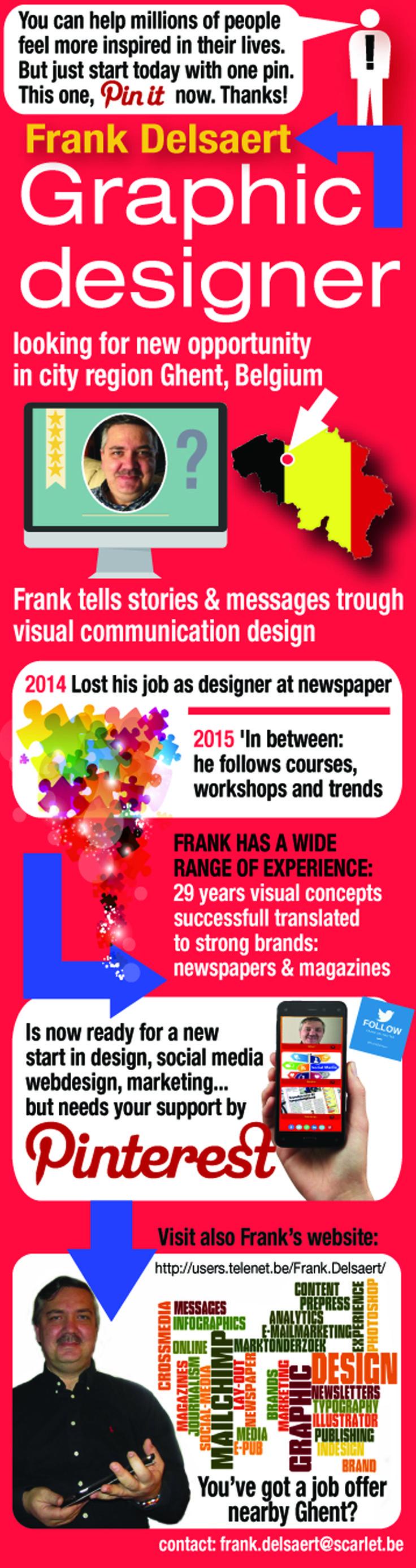 graphic designer looking for opportunity, looking for job, grafisch ontwerper zoekt job in regio Gent