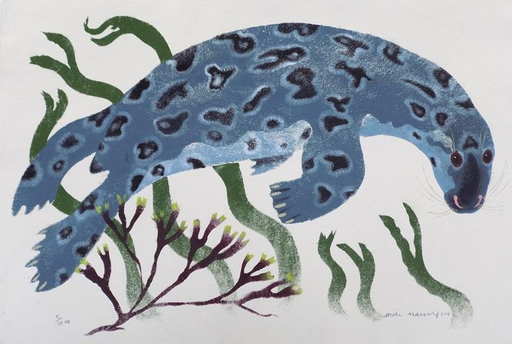 Mick Manning 'Curious Grey Seal' stencil print - exhibited at St Jude's In The City at The Bankside Gallery until 4th December 2016