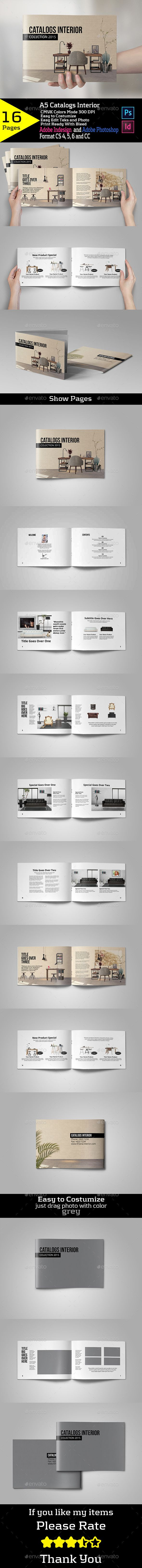 Catalogs Interior - Brochures Print Templates