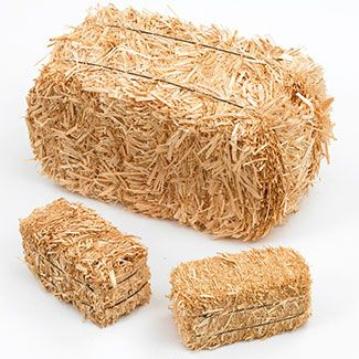 Barnyard Party: Mini Hay Bales - 2.5 inch (2 per bag)