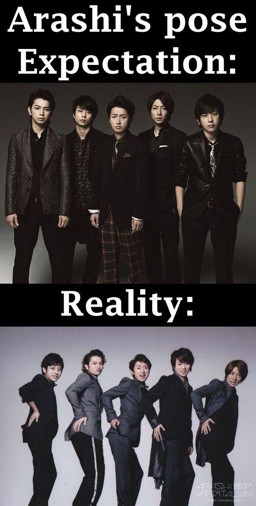 Arashi // so true // funny // my guys // Jun Matsumoto // DoS // MatsuJun // Nino // Kazunari Ninomiya // Aibaka // Masaki Aiba // Sho Sakurai // Satoshi Ohno // Riida // Arashi's pose // Espectation vs Reality