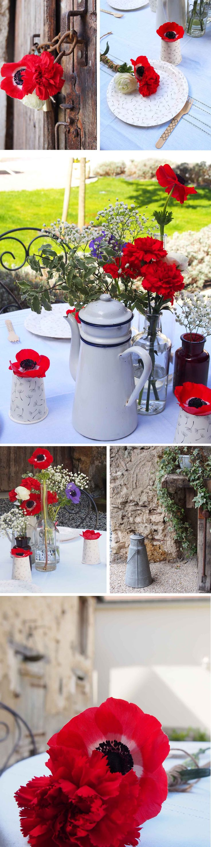 Déjeuner bucolique et champêtre. Vaisselle et accessoires à retrouver sur www.rosecaramelle.fr  #picnic #piquenique #bucolique #champetre #rustique #carreaux #kraft #bois #couverts #pailles #masonjars #paniers #vaisselle