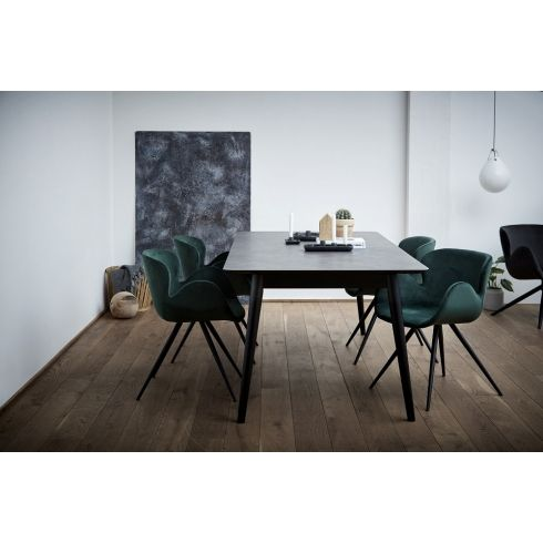 Pleasant Dan Form Gaia Dining Chair Emerald Green Velvet Dining Caraccident5 Cool Chair Designs And Ideas Caraccident5Info