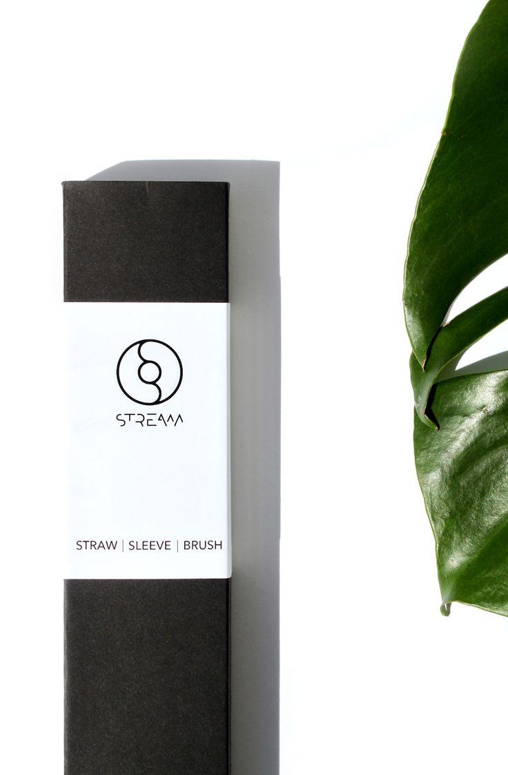 Stream Straws - Reusable Glass Drinking Straws. Eco-Friendly. Packaging Design. Minimal. Clean Design