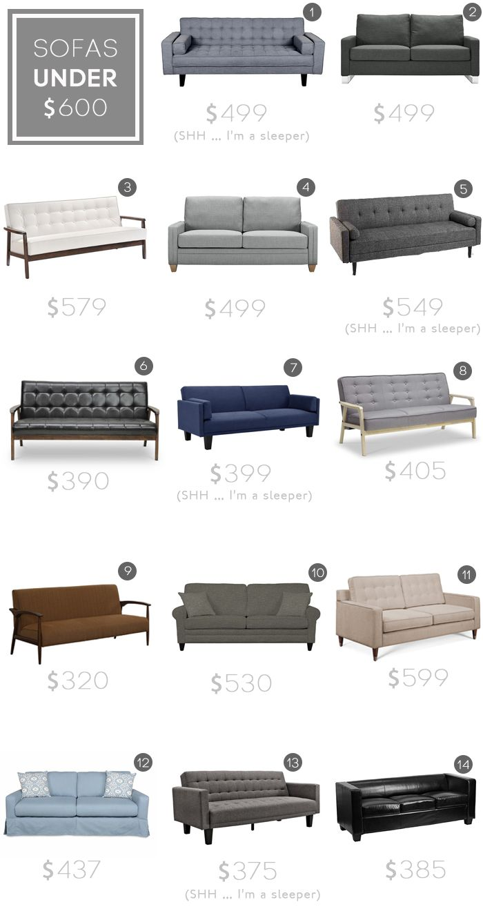 Sofa roundup | Under $600 | Emily Henderson