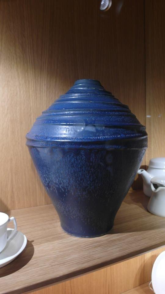 Vase/lampefot designet av Tias Eckhoff for Porsgrund Porselen.