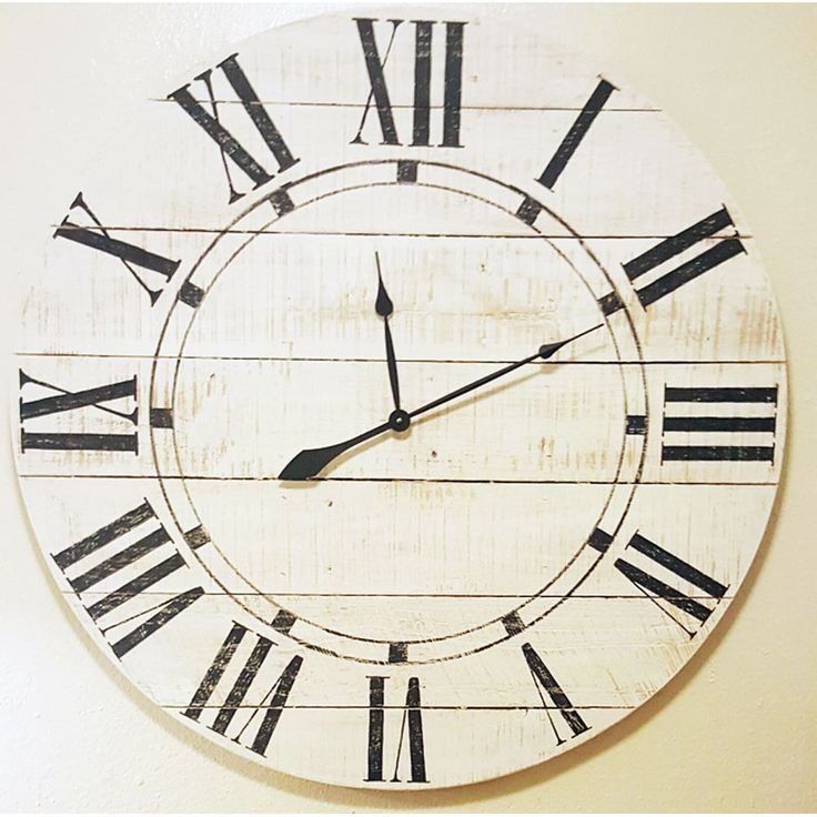 Avery Wood Oversized Vintage Wall Clock 36x 36