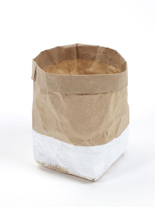photophore sac en papier kraft brun blanc serax deco pinterest. Black Bedroom Furniture Sets. Home Design Ideas