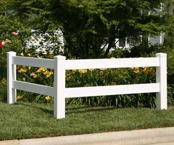 White Fence Post