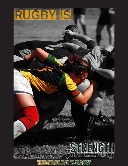 Womens Rugby. This poster was probably my favorite one I made.   And she's flanking look at that!