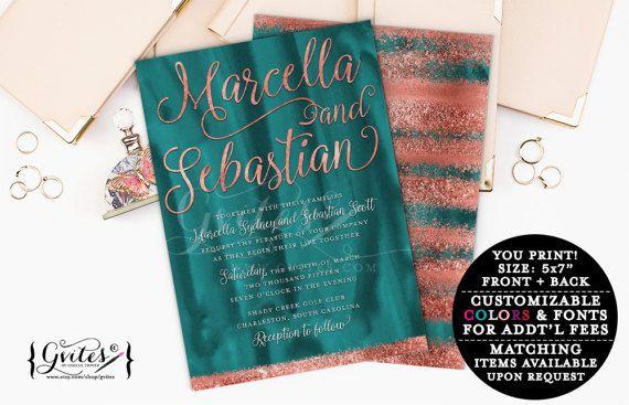 Teal Invitations Wedding: Best 25+ Teal Wedding Invitations Ideas On Pinterest