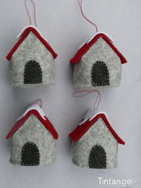 Little houses for your X-MAS tree от Tintangel на Etsy