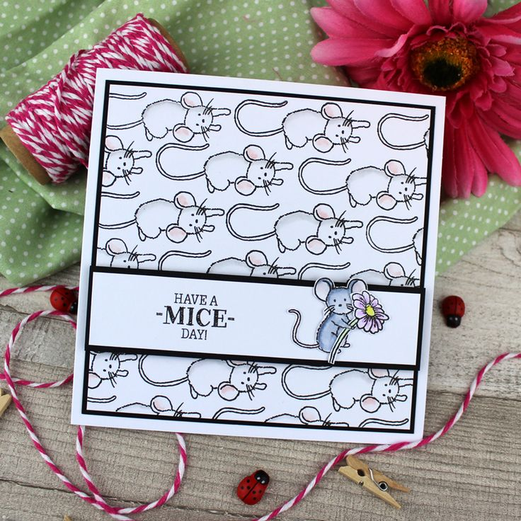 Card created using For the Love of Stamps by Hunkydory Crafts A Mice Day! Stamp Set