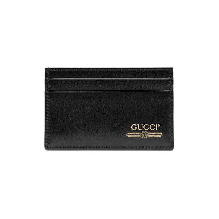 Gucci leather card case with gucci logo gucci card