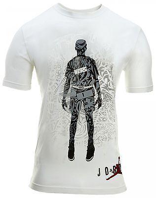 Jordan Tee 268443-100 Mens white/black T-Shirts SZ-XL