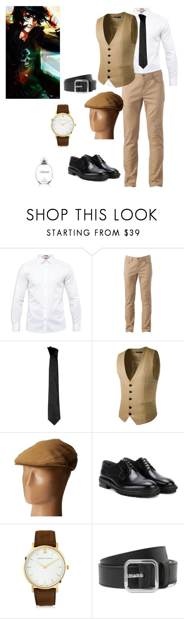 """""""nico di angelo 1920s"""" by shyanne-andrade ❤ liked on Polyvore featuring Ted Baker, Urban Pipeline, Versace, Brixton, Nico, Lanvin, Larsson & Jennings, Calvin Klein, men's fashion and menswear"""