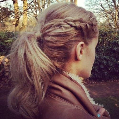 Braided bangs into a ponytail | Braids | Pinterest ...