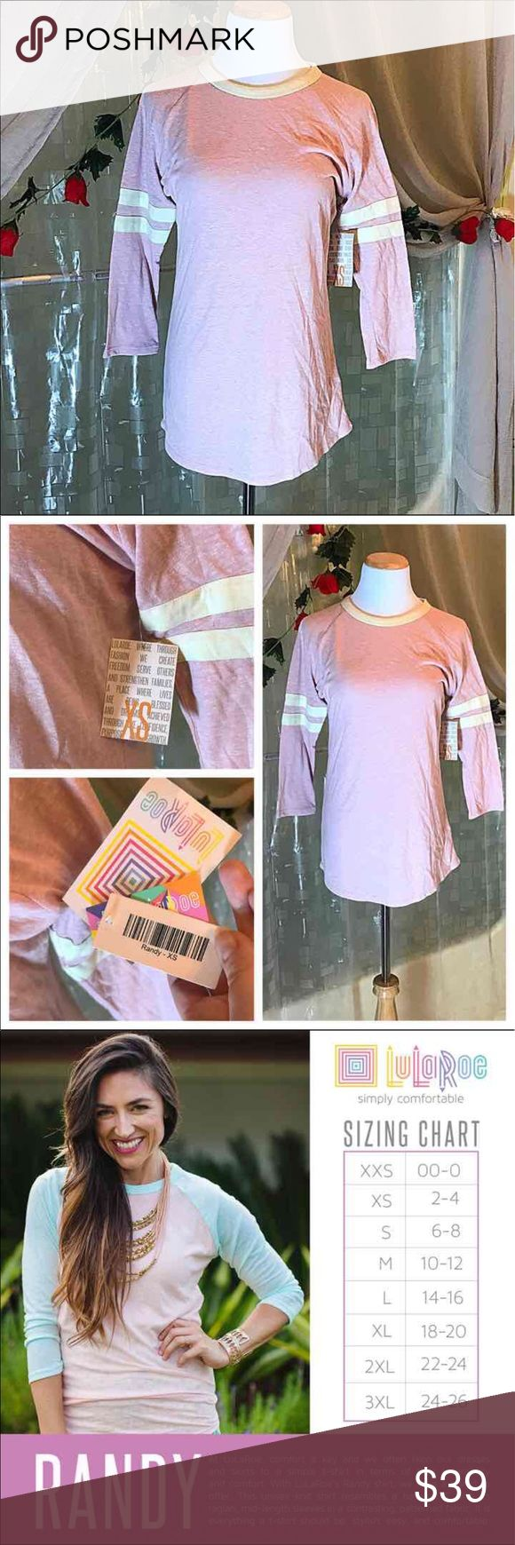 LuLaRoe RANDY NWT pink and cream stripes XS Brand new, never worn, perfect condition LLR XS RANDY. would likely also fit XXS & S. Is light pink with cream / off white stripes on sleeves and crew neck collar. It is a baseball style comfortable tee with 3/4 reglan like sleeves. It is super comfortable and a great fit knit top. Great for layering. Is lightweight. Would go great with so many LuLaRoe leggings or shorts. I paid abt $50 for this. LuLaRoe Tops Tees - Long Sleeve