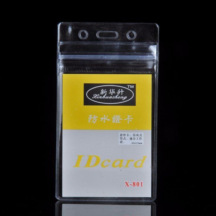10 stks/partij Handig Clear PVC Badge Houder Werk Tentoonstelling ID Naam Waterdicht Kaarthouders Gratis Verzending