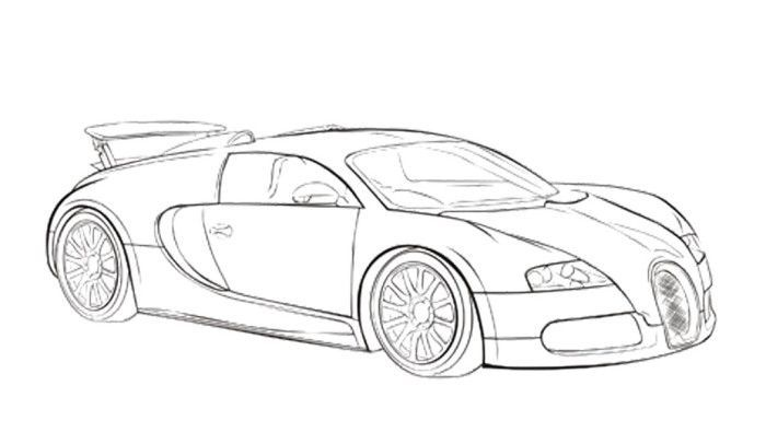 Car Sport Bugatti Veyron Coloring Page Bugatti Race Car Coloring