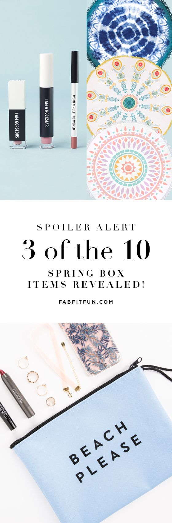 PRESALE ALERT: The Spring Box is now on sale! Sign up today to reserve yours. These boxes sell out quick + you won't want to miss out! Use code HAPPY to get $10 off + FREE Shipping. Every box will have a Milly clutch, a Real Her Lip Kit w/full-size lip liner, lip gloss, + liquid lipstick, a Gypsy05 Roundie, + more full-size items that we can't reveal yet!