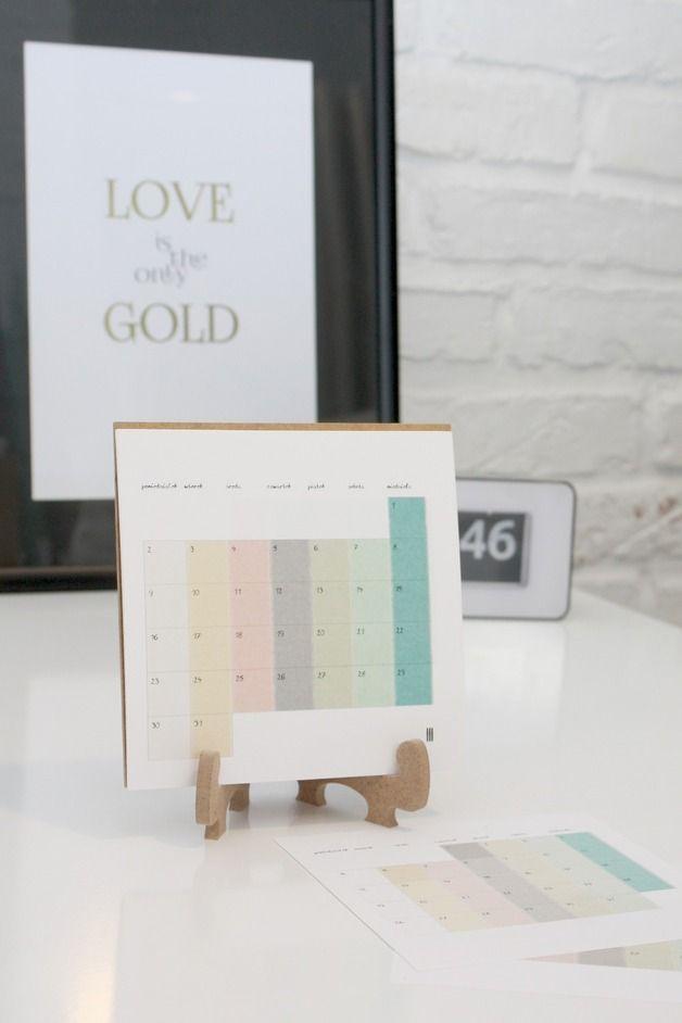 Kalendarz na biurko, cieniowany, minimalistyczny - peliprojekty - Kalendarze