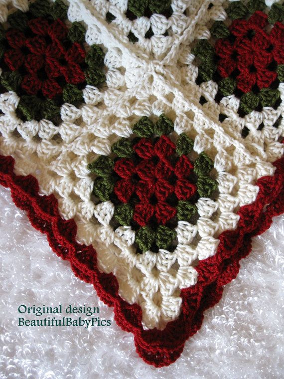 Free Crochet Granny Square Christmas Tree Pattern : 25+ best ideas about Christmas Afghan on Pinterest Free ...