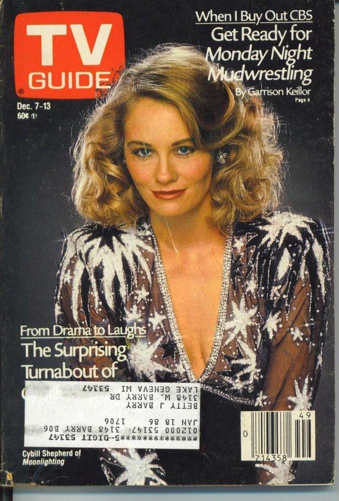 TV GUIDE 12/7/1985-CYBILL SHEPERD-NY METRO G