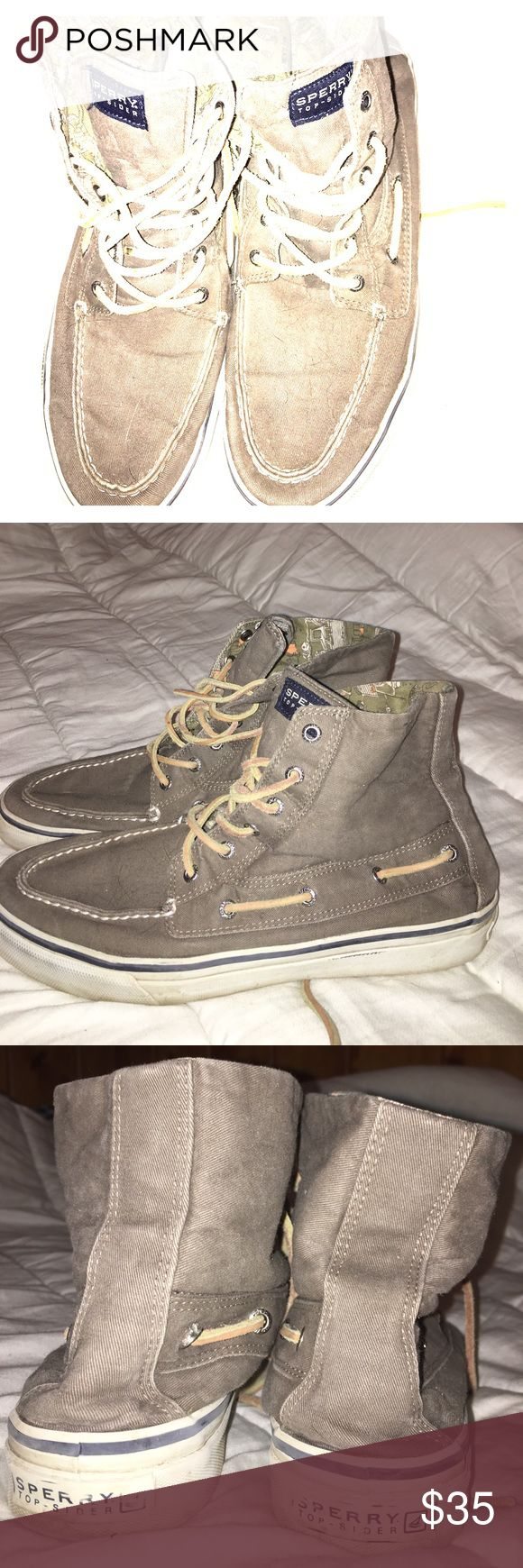 Sperry High Tops Men's Navy/Charcoal Cargo material sperry's Shoes Sneakers