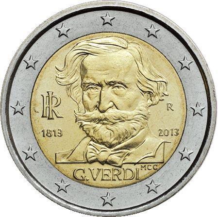 Italia, 2 euro bicentenario della nascita di Giuseppe Verdi, 2013