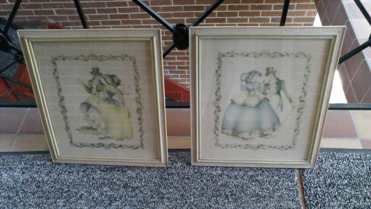 a pair of vintage airbrush art By Terone #Vintage