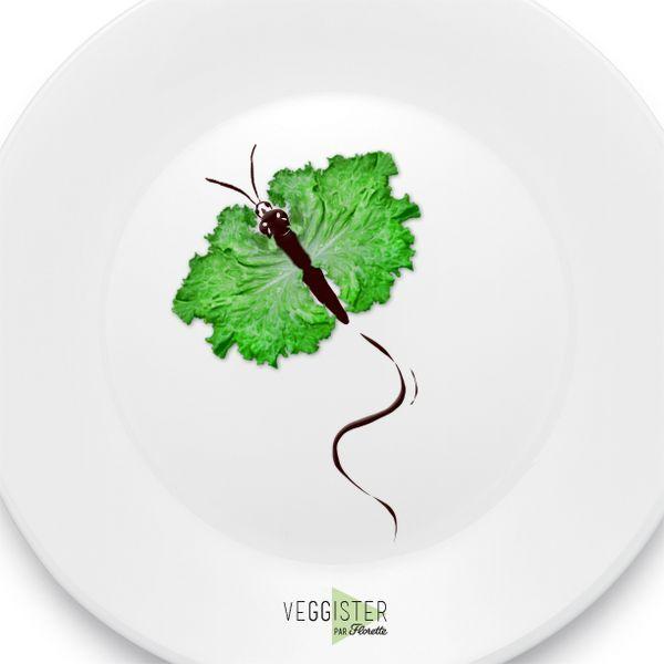 Faites voyager vos papilles. Envolez-vous vers de nouveaux horizons le temps d'une salade #Veggister #FoodArt