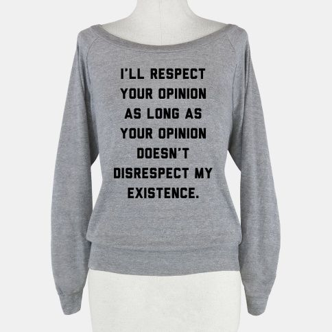 Respect My Existence   HUMAN