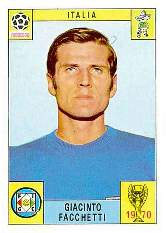 114 Giacinto Facchetti - Italia - FIFA World Cup Mexico 1970