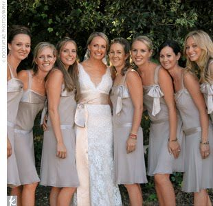 Bridesmaid Color To Complement Blush Colored Wedding Dress