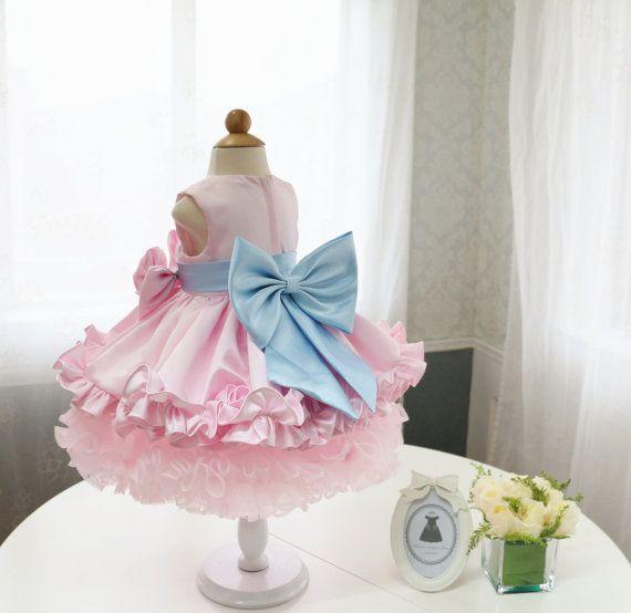 Flower Girl Dress Pink Flower Mother Daughter Matching by PLdress
