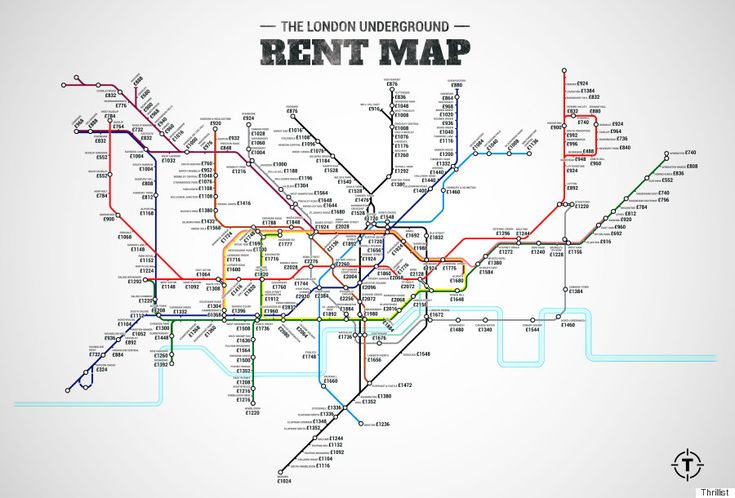 London Underground Rent Map Shows Most Expensive Places To Live On Capitals Transport Network