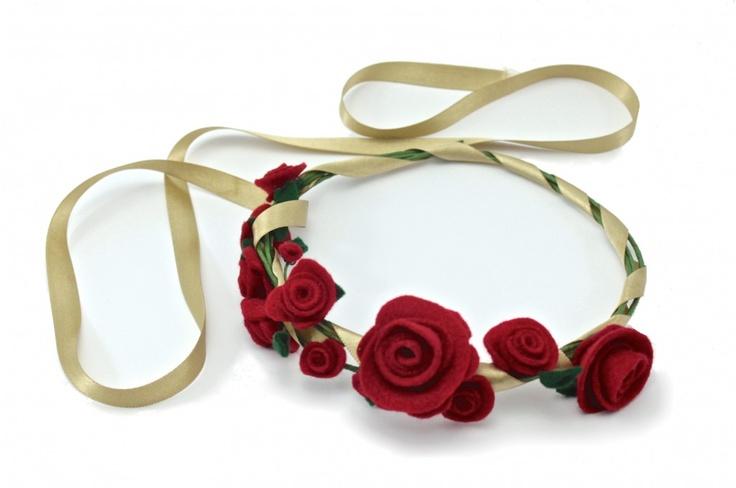 BALACAS #blum #novias #pajecitas #fieltro #rosas #rojo