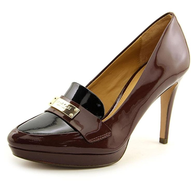 Coach Garnet Women Round Toe Patent Leather Burgundy Heels -- Quickly view this special  product, click the image - Closed toe sandals