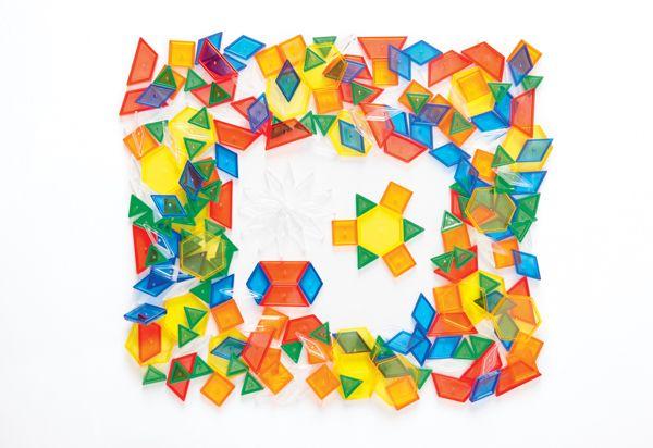 Geometrické tvary transparentní   Didaktické hry  Aurednik CS