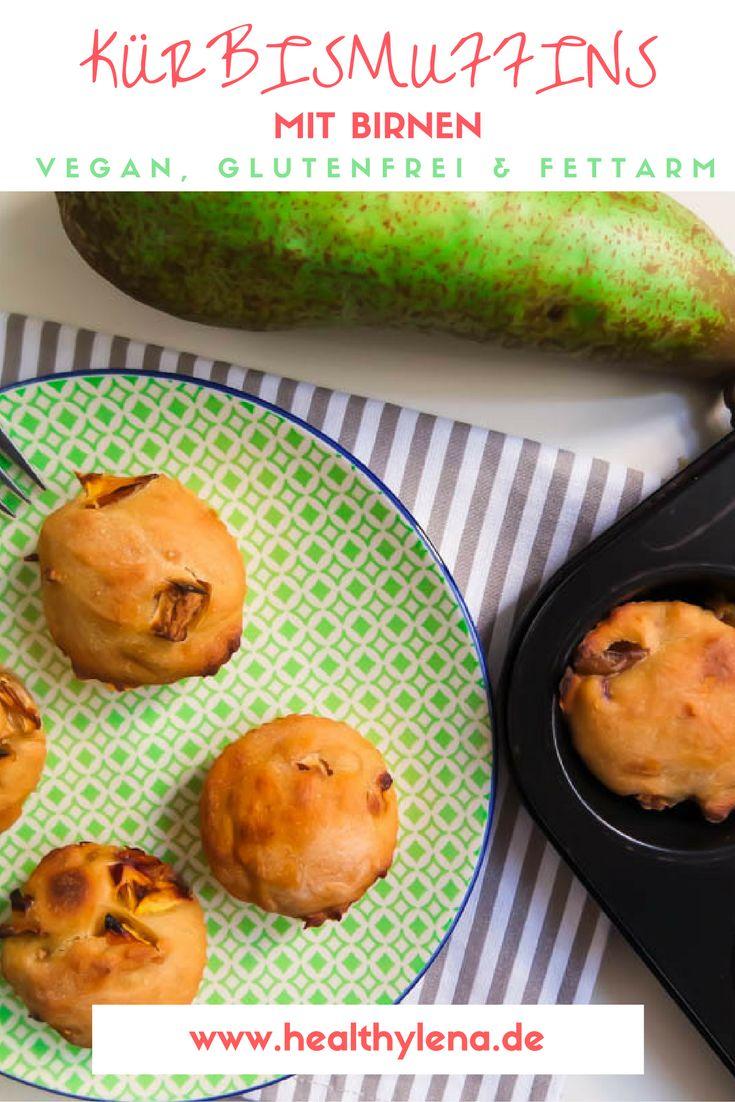 So ein bisschen freue ich mich ja auch auf den Herbst. Ich gebe zu, meine Kürbismuffins mit Birnen könnten mit der Vorfreude definitiv etwas zu tun haben. Hier geht's zum leckeren Kürbis Rezept: vegan, glutunfrei und fettarm.