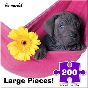 Dog Hammock (200 Large Piece Puzzle by Re-Marks)