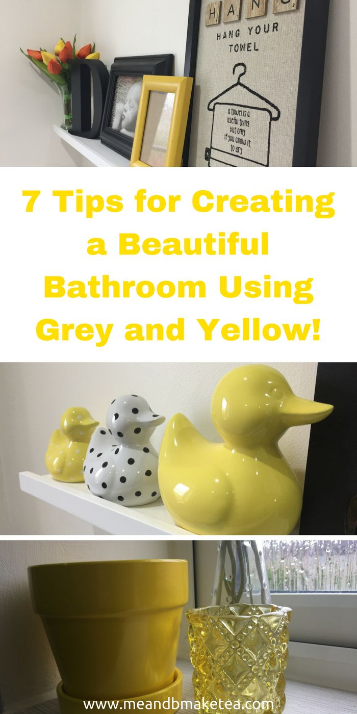 Bright yellow bathroom accessories - 7 Tips For Creating A Beautiful Bathroom Using Grey And Yellow